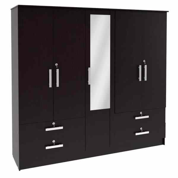 Wardrobe Series 007 – 5 Door 250cm by 62cm by H 220cm220cm