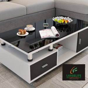 Andrew Series Coffee Table (with Premium High Gloss Table Top and High Gloss  Drawer Face Finish)