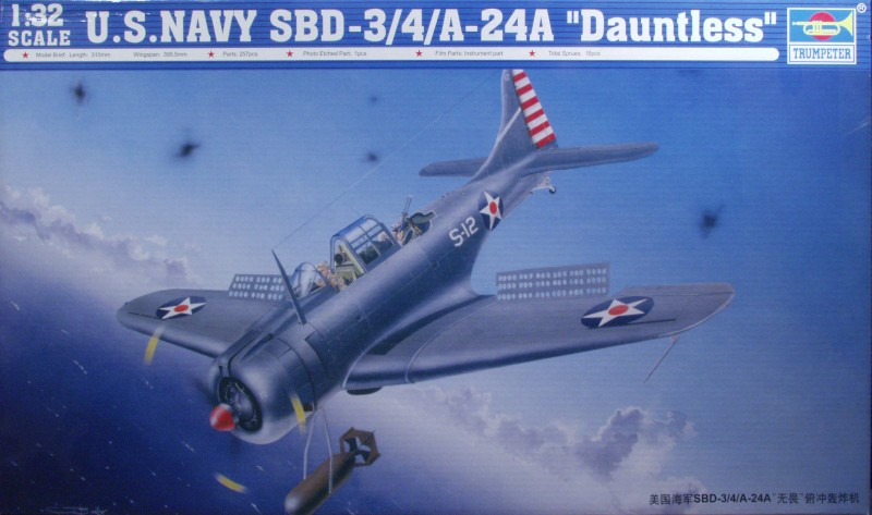 Trumpeter Douglas Sbd 3 4 A 24 Dauntless Large Scale