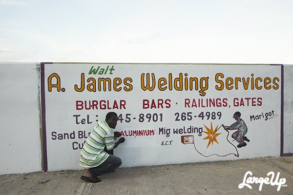 Sign Painter, Marigot, Dominica