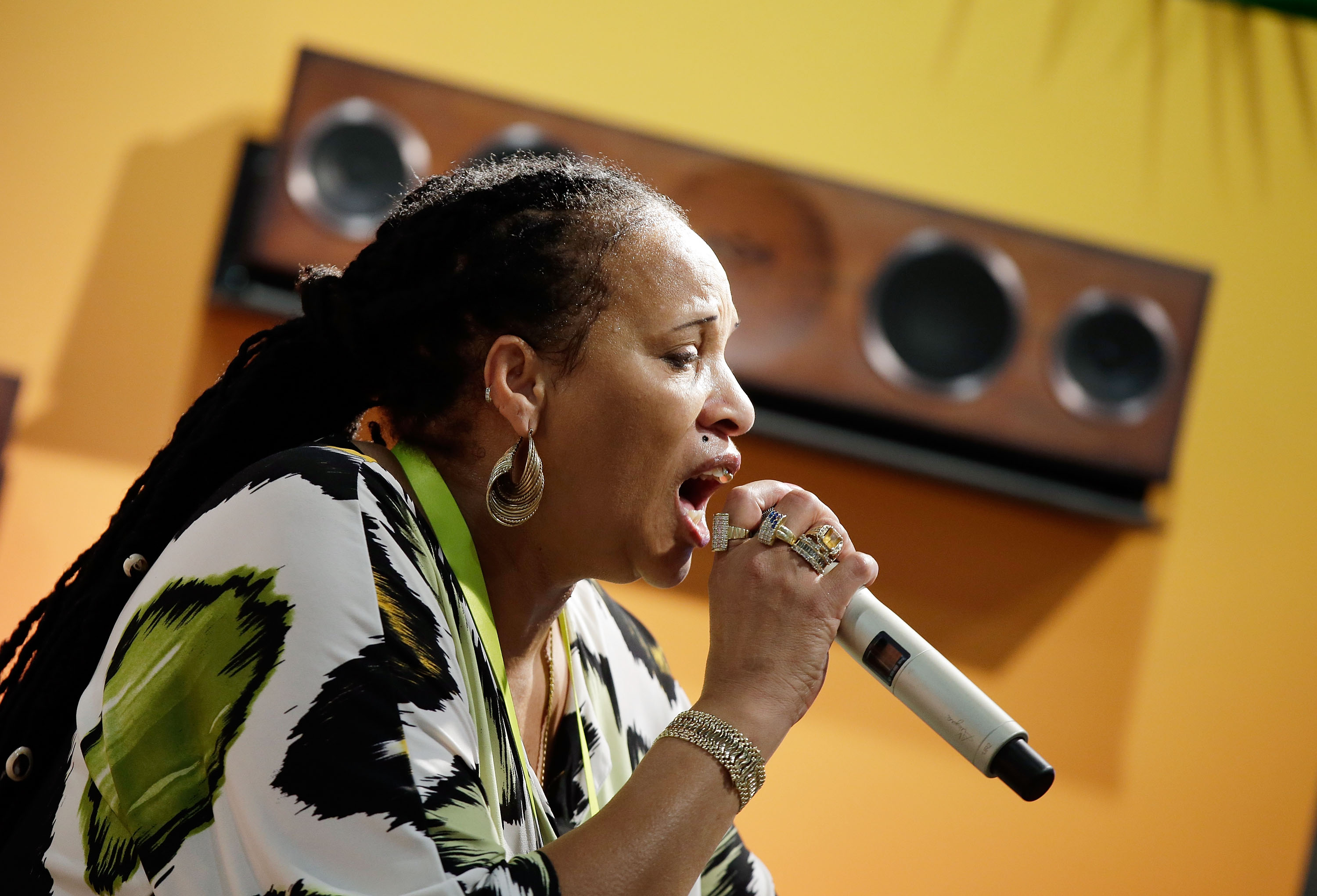 """""""Ay, what a Bam Bam! Bam Bam deeellllaaaa, Bam Bam..."""" Sister Nancy delivers one of dancehall's all-time classics."""