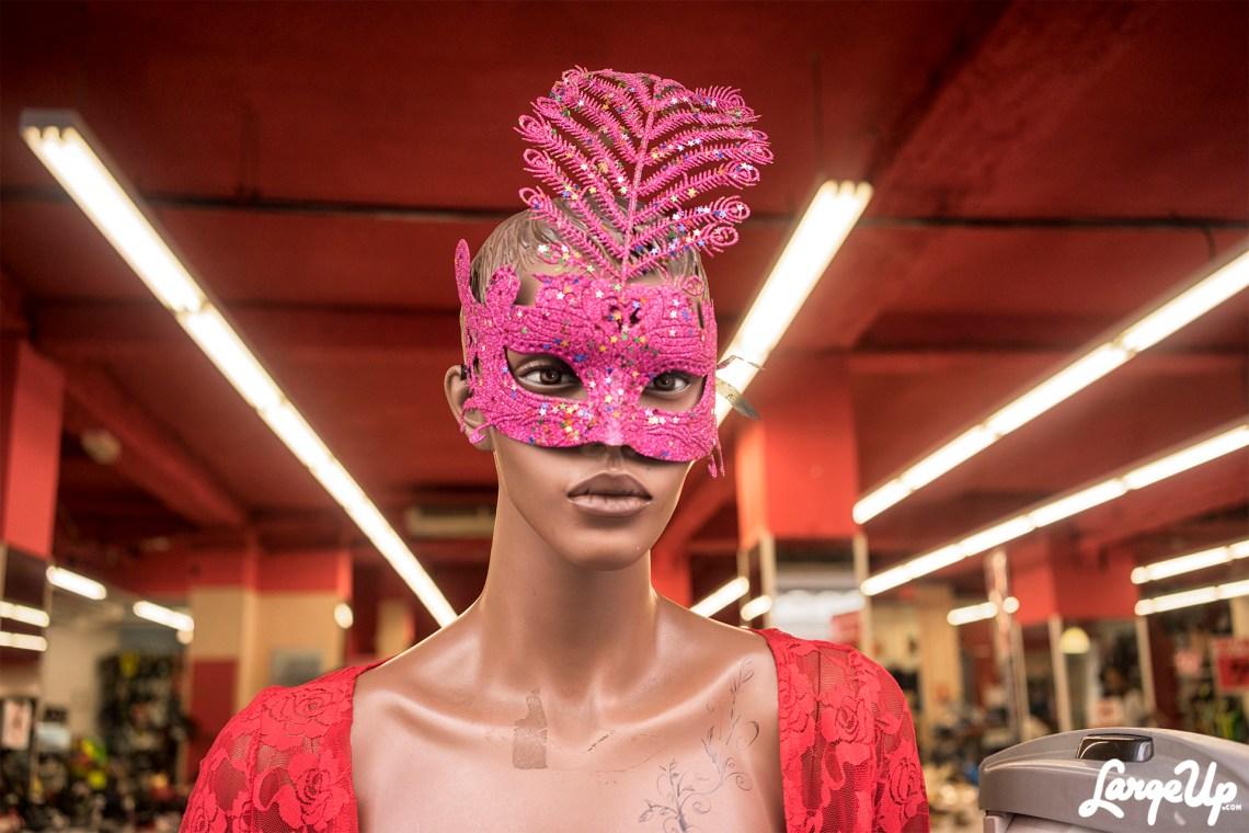 Stores gear up for Carnival, Centre Ville, Fort-de-France, Martinique photo by Adama Delphine Fawundu