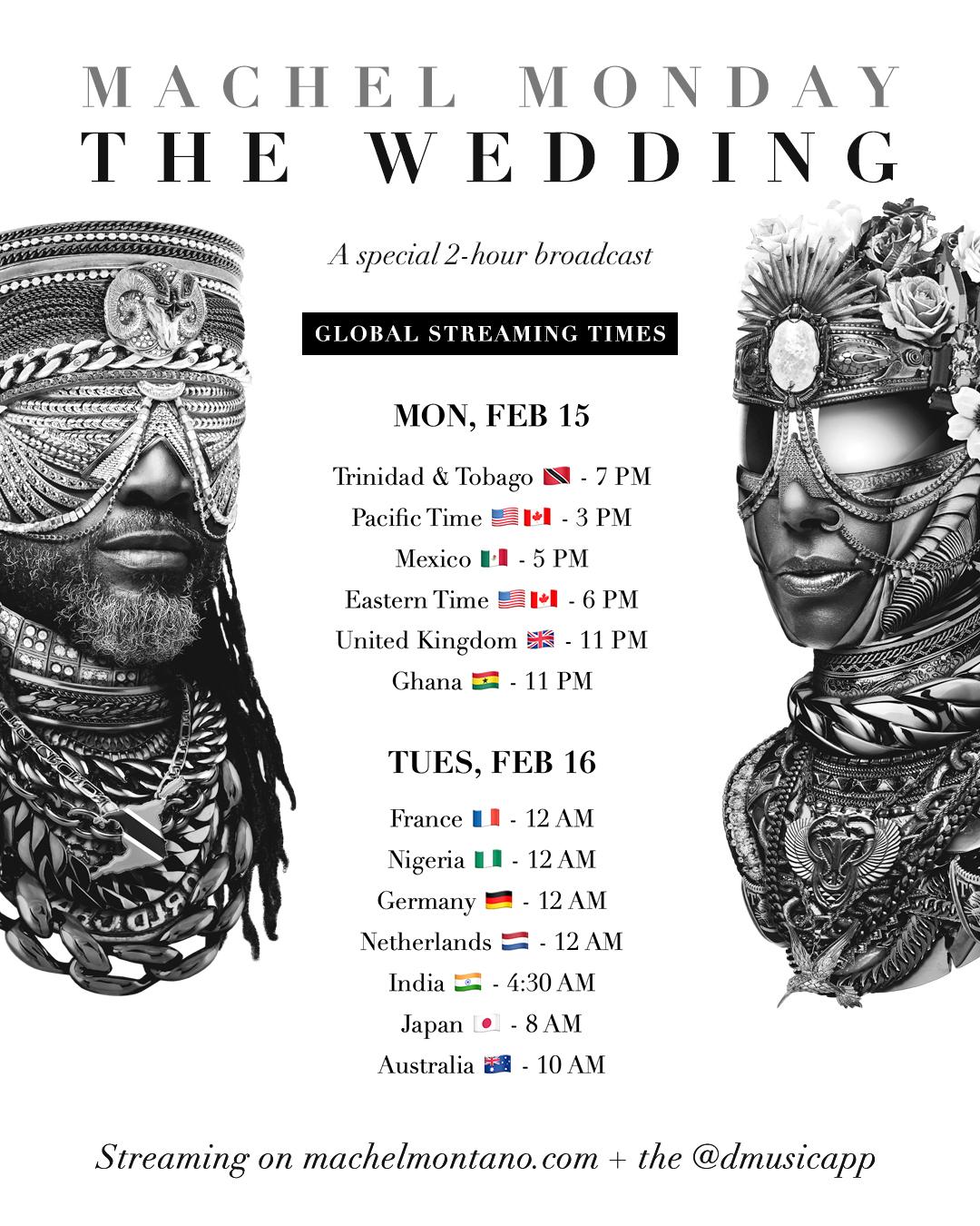 Machel Monday - The Wedding tune-in times