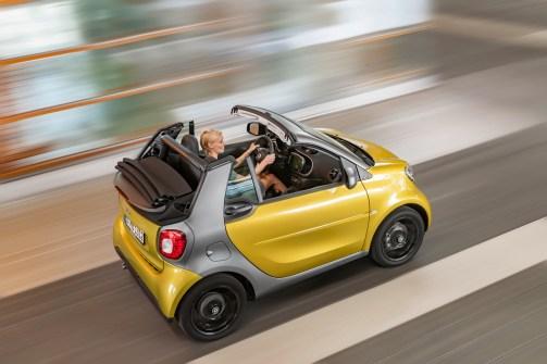 vue de dessus toit ouvert Smart Fortwo Cabrio 2015