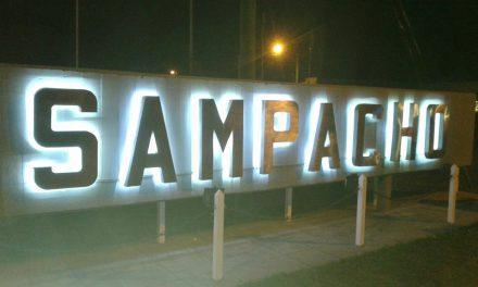 Inauguración de luminarias led en Sampacho