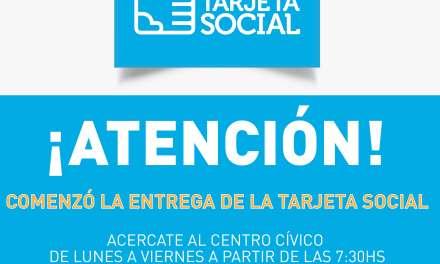 Continúa la entrega de la Tarjeta Social en Río Cuarto