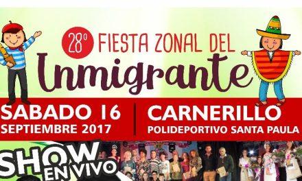 Carnerillo se prepara para una nueva Fiesta Zonal del Inmigrante