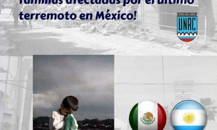 Estudiantes mexicanos de intercambio en la UNRC piden ayuda para los afectados por el terremoto