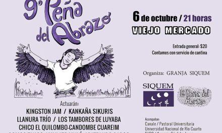 El viernes 6 se realiza la novena edición de la Peña del Abrazo