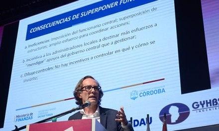 """El ministro Giordano habló sobre """"federalismo"""" en Jornadas de Infraestructura"""