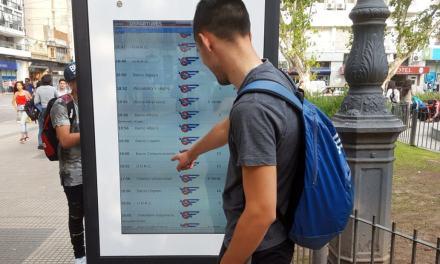 Se instalaron los primeros visores digitales con los horarios de colectivos
