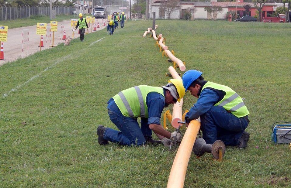 Comenzó la obra de tendido de la red domiciliaria de gas en Reducción