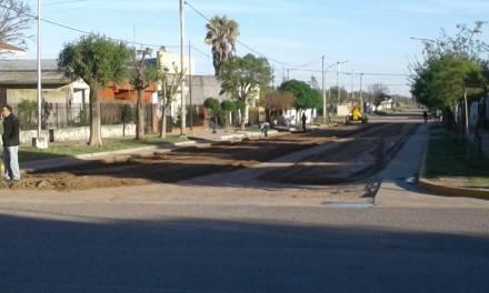 Avanza la obra de pavimento en Villa Valeria