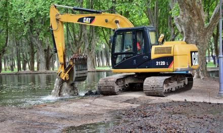 Saneamiento en el lago del Parque Sarmiento
