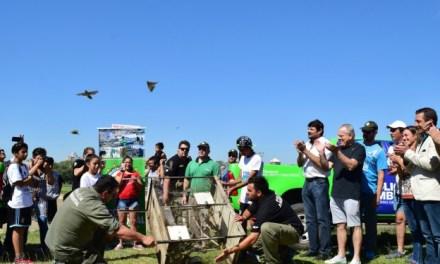 Policía Ambiental realizó una suelta de pájaros en Río Cuarto