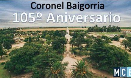 Coronel Baigorria celebra su 105º aniversario