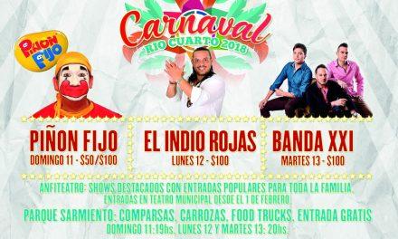 Se realizará una nueva edición de los Carnavales en Río Cuarto