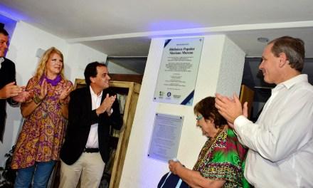 Llamosas inauguró las obras de refacción en la Biblioteca Mariano Moreno