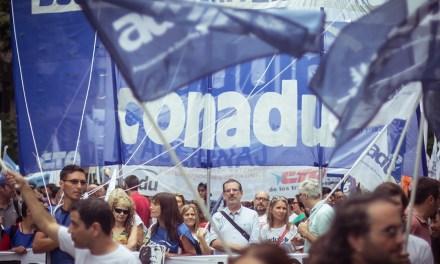 Conadu profundiza su plan de lucha: paro el 26 y 27 de abril