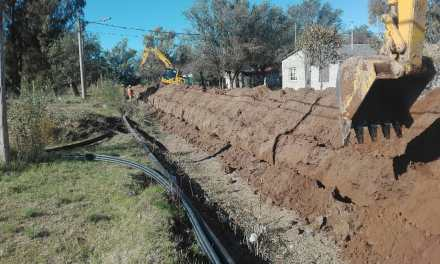 Avanza la Obra de Gas Natural en Villa Huidobro