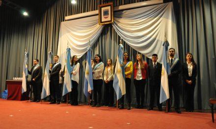 Se concretó el cambio de abanderados de la UNRC y las facultades
