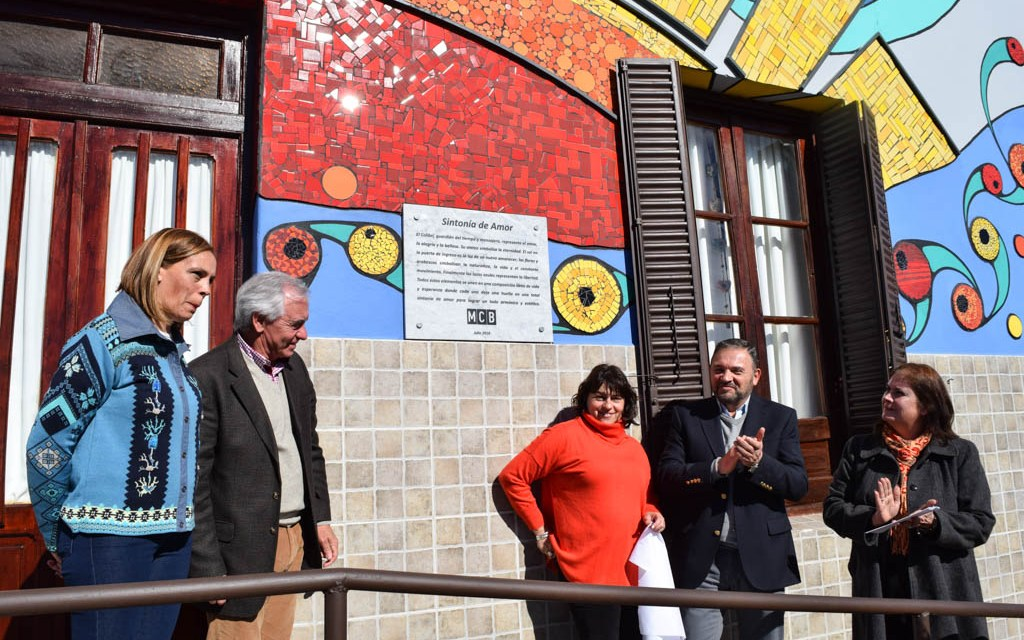 """Se inauguró el mural """"Sintonía de Amor"""" en Coronel Baigorria"""