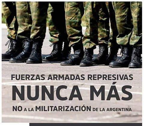 Río Cuarto: Convocan a marchar contra las Fuerzas Armadas en seguridad interior