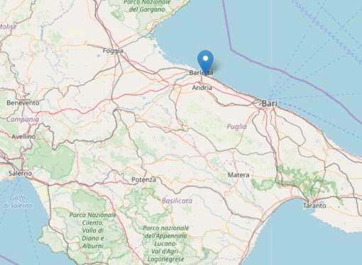 Scossa di terremoto avvertita in tutta la Puglia