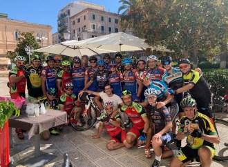 Solidarietà: da Bergamo a Taranto in bici, ieri l'arrivo scortato da Mtb Bikers