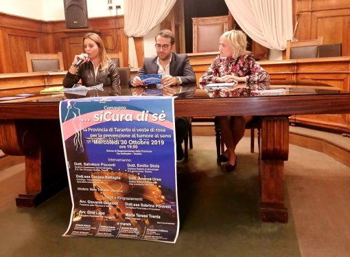 """""""siCura di sè"""", a Taranto iniziativa sulla prevenzione del tumore al seno"""
