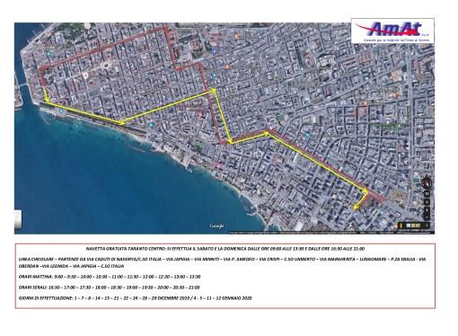 Natale a Taranto, le navette gratuite dell'Amat