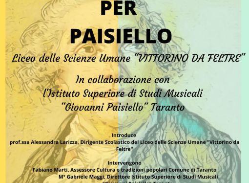 """L'eta di Paisiello, stasera l'evento finale del progetto del """"Vittorino da Feltre"""" <span class=""""dashicons dashicons-calendar""""></span>"""