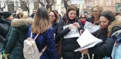 Manifestazione dei precari della Scuola, 14 Febbraio 2020 Taranto (foto fornita da ufficio stampa manifestazione)