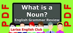 What is a Noun Grammar Review PDF