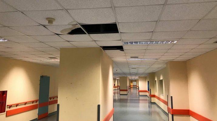 Σημάδια εγκατάλειψης στο Πανεπιστημιακό Νοσοκομείο Λάρισας – Έχει πιάσει…»ταβάνι»! (ΦΩΤΟ)