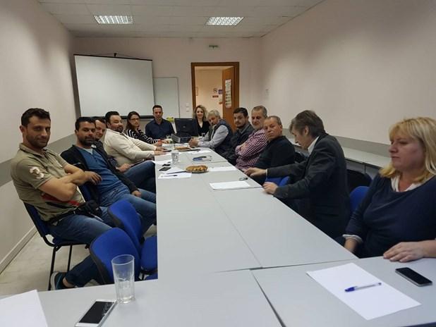 Συνάντηση εργασίας ΚΕΚ ΓΣΕΒΕΕ με τα σωματεία ΟΕΒΕ Λάρισας