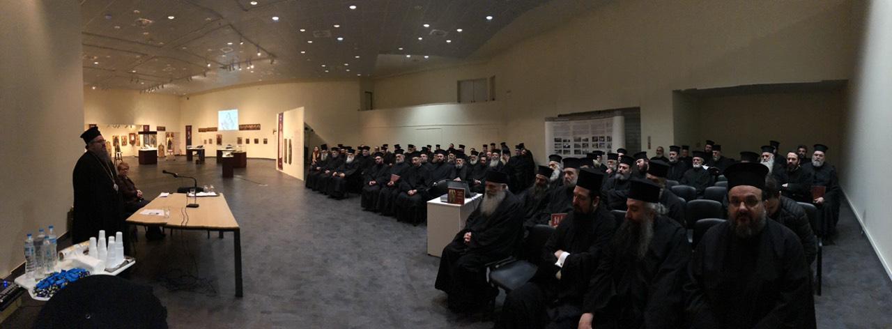 Ιερατική σύναξη στο Διαχρονικό Μουσείο στη Λάρισα