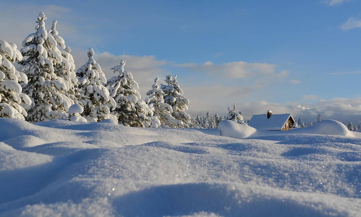 Μέχρι και 1,5 μέτρο το χιόνι στα ορεινά των Τρικάλων - ΦΩΤΟ