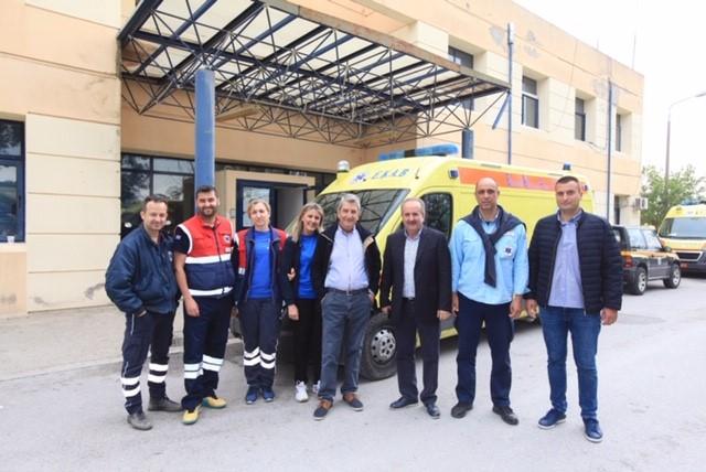 Επίσκεψη Θανάση Μούσιου στο ΕΚΑΒ Θεσσαλίας