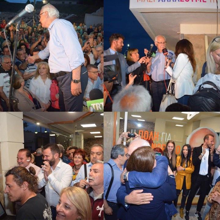 Δείτε τις δηλώσεις Απόστολου Καλογιάννη και πανηγυρισμούς στο εκλογικό κέντρο (Φώτο-Video)