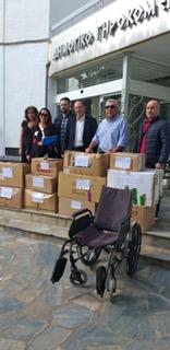 Προσφορά υλικών απο το Δήμο Λαρισαίων στο Γηροκομείο της Λάρισας