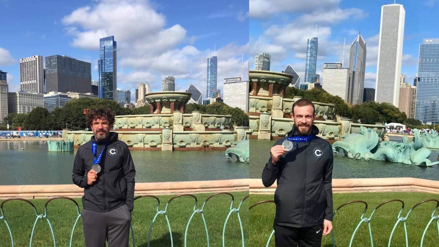 Δυο Τρικαλινοί στον Μαραθώνιο του Σικάγο (φώτο)