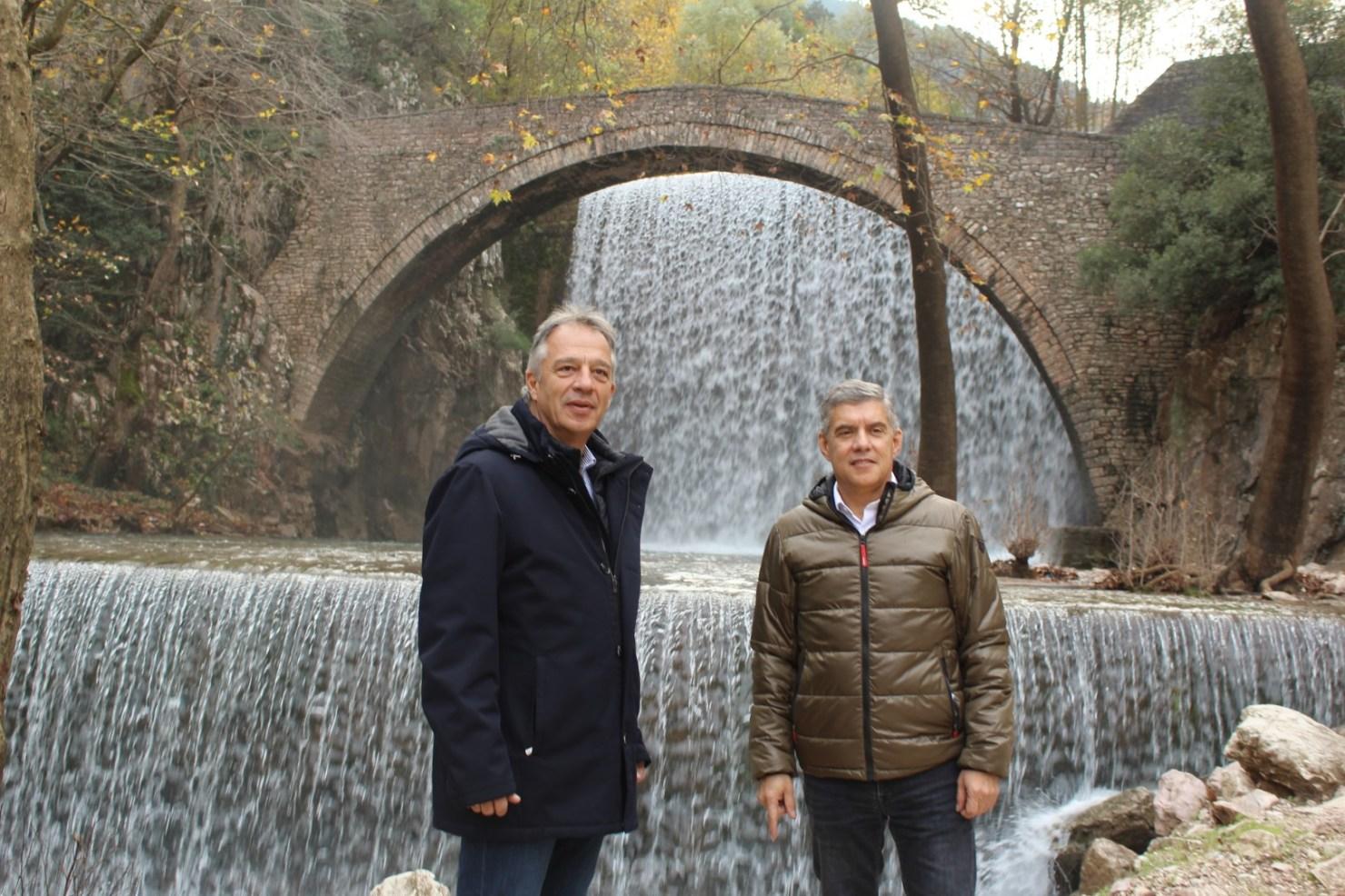 Αξιοποιεί τους καταρράκτες της Παλαιοκαρυάς η Περιφέρεια Θεσσαλίας