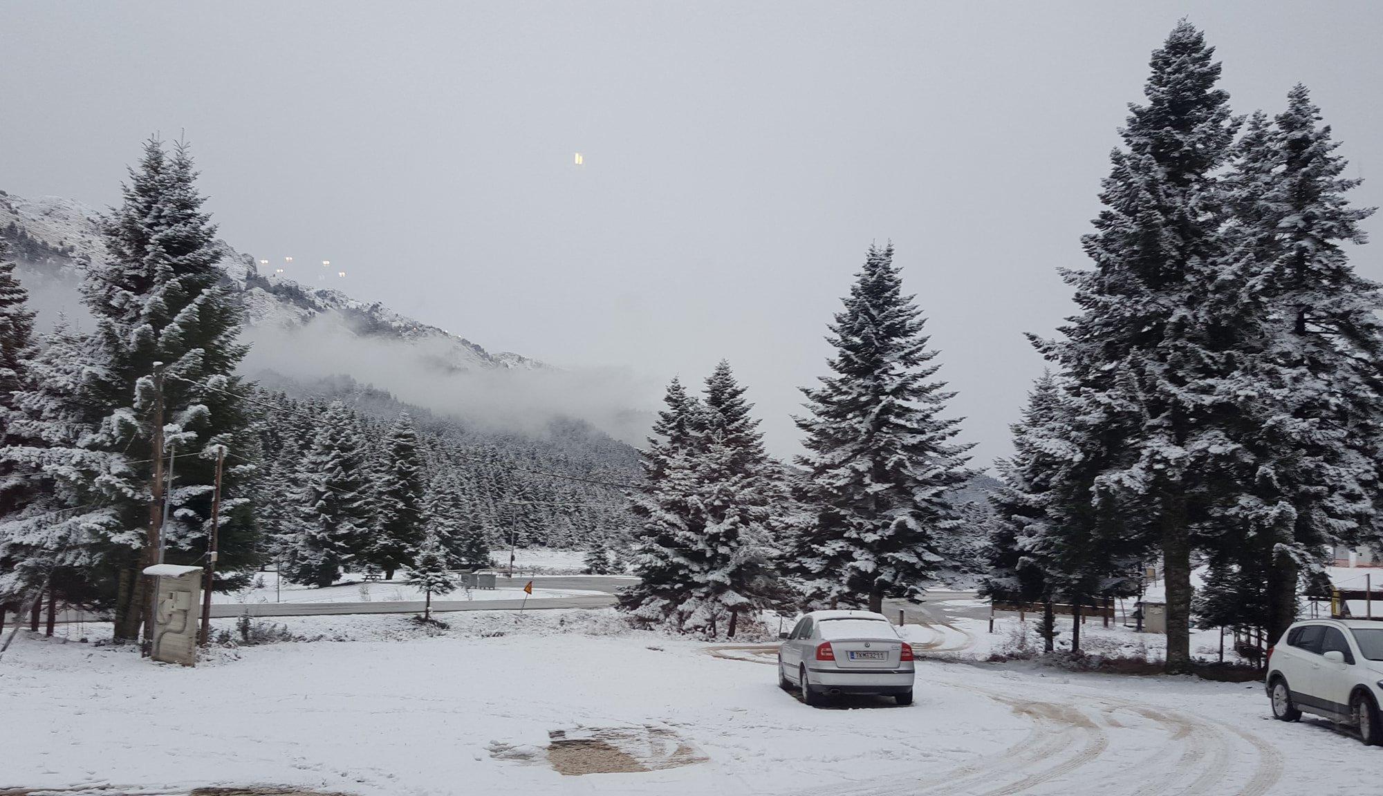 Ψυχρή εισβολή. Χιόνια την Τετάρτη στα ορεινά των Τρικάλων