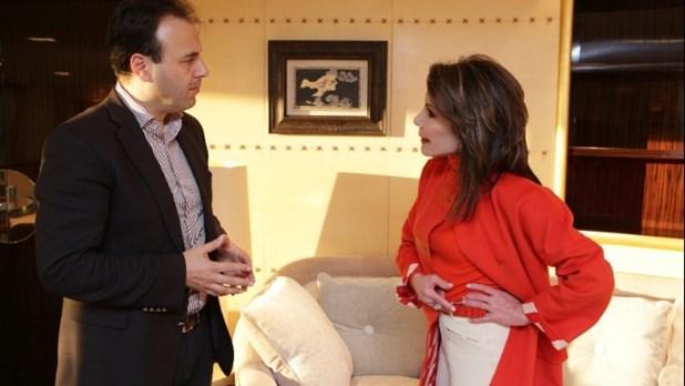 Συνάντηση του δημάρχου Τρικάλων με την Γιάννα Αγγελοπούλου