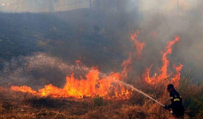 Λάρισα: Πυρκαγιά σε χωράφι μεταξύ Βρυοτόπου και Ροδιάς