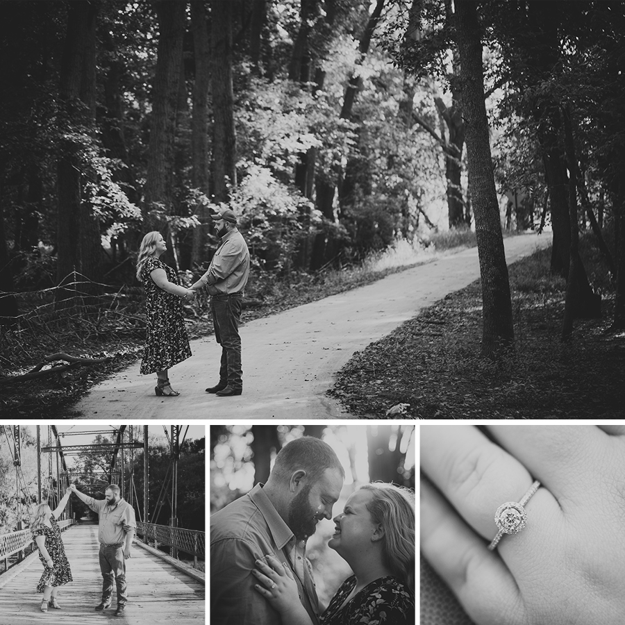 Lovely engagement photography session in Spencer Iowa