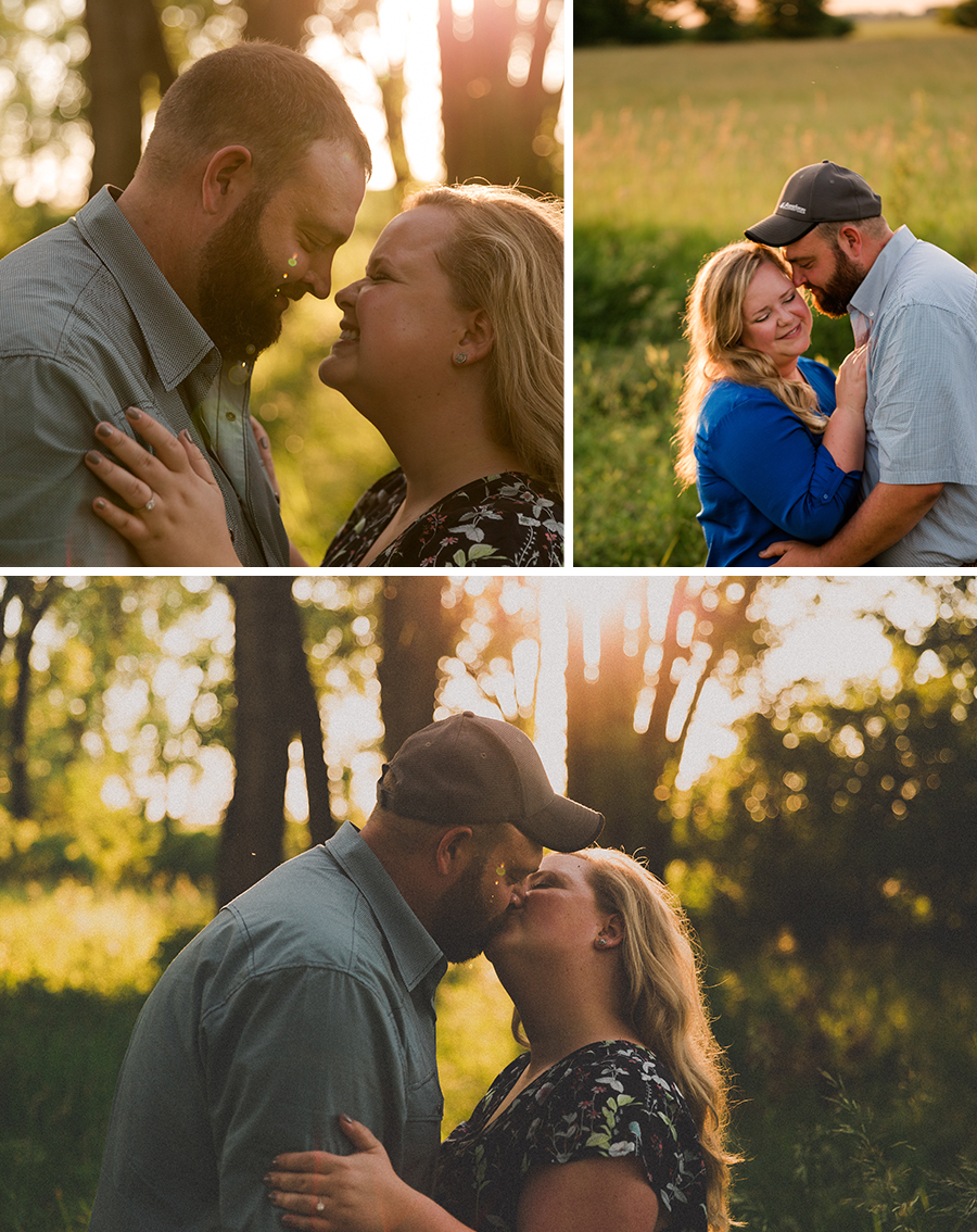 Film look engagement photos in Spencer Iowa!