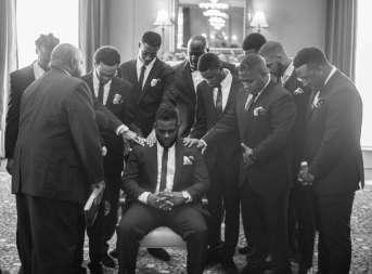 Groomsmen Praying