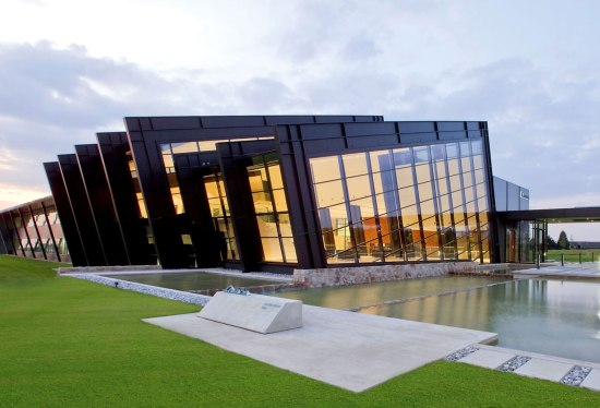 an example of a steel THERM+ curtain wall